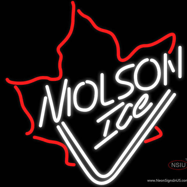 Molson Ice Maple Leaf Neon Beer Sign x