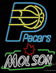 Molson Indiana Pacers NBA Neon Beer Sign