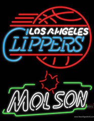 Molson Los Angeles Clippers NBA Neon Beer Sign