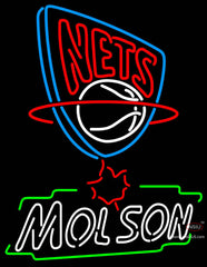 Molson New Jersey Nets NBA Neon Beer Sign