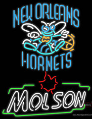 Molson New Orleans Hornets NBA Neon Beer Sign