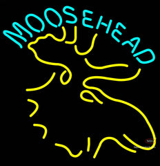 Moose Head Logo Beer Neon Sign