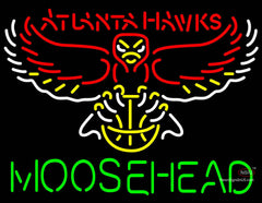 Moosehead Atlanta Hawks NBA Neon Beer Sign