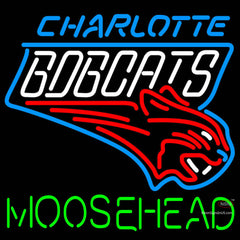 Moosehead Charlotte Bobcats NBA Neon Beer Sign