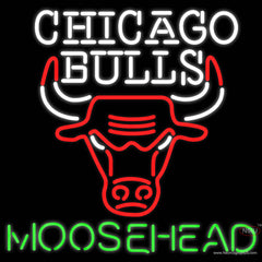 Moosehead Chicago Bulls NBA Neon Beer Sign