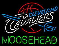 Moosehead Cleveland Caveliers NBA Neon Beer Sign