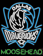 Moosehead Dallas Mavericks NBA Neon Beer Sign