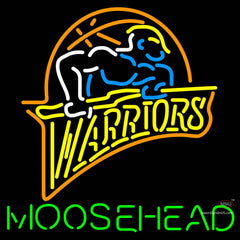 Moosehead Golden St Warriors NBA Neon Beer Sign