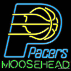 Moosehead Indiana Pacers NBA Neon Beer Sign