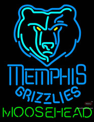 Moosehead Memphis Grizzlies NBA Neon Beer Sign