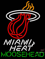 Moosehead Miami Heat NBA Neon Beer Sign