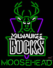 Moosehead Milwaukee Bucks NBA Neon Beer Sign