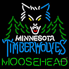 Moosehead Minnesota Timber Wolves NBA Neon Beer Sign