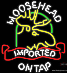 Moosehead Moose Imported On Top Neon Beer Sign