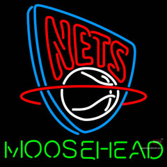 Moosehead New Jersey Nets NBA Neon Beer Sign