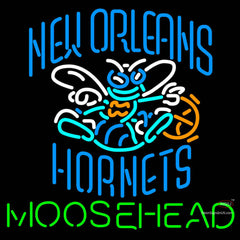 Moosehead New Orleans Hornets NBA Neon Beer Sign