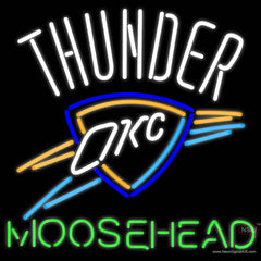 Moosehead Oklahoma City Thunder NBA Neon Beer Sign