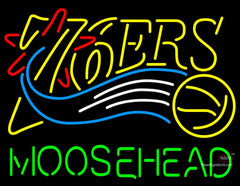 Moosehead Philadelphia 7ers NBA Neon Beer Sign