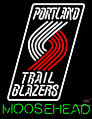 Moosehead Portland Trail Blazers NBA Neon Beer Sign