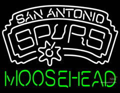 Moosehead San Antonio Spurs NBA Neon Beer Sign