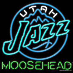 Moosehead Utah Jazz NBA Neon Beer Sign