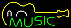 Music Guitar Handmade Art Neon Sign