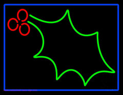 Christmas Holly Handmade Art Neon Sign