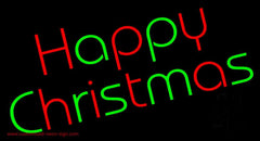 Happy Christmas Handmade Art Neon Sign