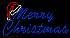 Merry Christams With Hat Handmade Art Neon Sign