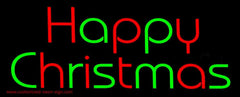 Red And Green Happy Christmas Handmade Art Neon Sign