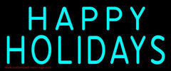 Happy Holidays Block Handmade Art Neon Sign