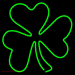 Happy St Patricks Day Shamrock Handmade Art Neon Sign
