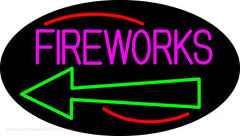 Fireworks With Arrow 2 Handmade Art Neon Sign