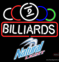 Natural Light Ball Billiards Text Pool Real Neon Glass Tube Neon Sign   x
