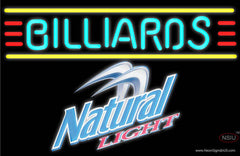 Natural Light Billiards Text Borders Pool Real Neon Glass Tube Neon Sign