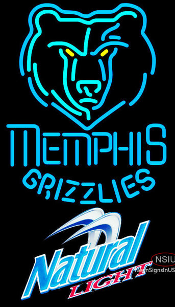 Natural Light Memphis Grizzlies NBA Neon Sign
