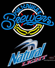 Natural Light Milwaukee Brewers MLB Neon Sign