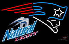 Natural Light New England Patriots NFL Neon Sign