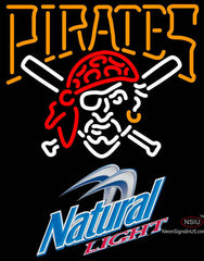 Natural Light Pittsburgh Pirates MLB Neon Sign