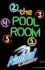 Natural Light Pool Room Billiards Real Neon Glass Tube Neon Sign