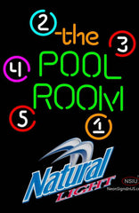 Natural Light Pool Room Billiards Neon Sign