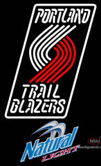 Natural Light Portland Trail Blazers NBA Neon Sign