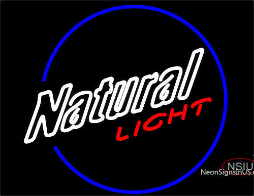 Natural Light Round Neon Beer Sign