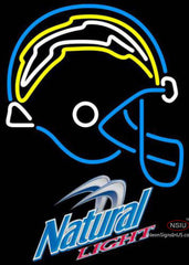 Natural Light San Diego Chargers NFL Neon Sign