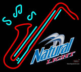Natural Light Saxophone Neon Sign