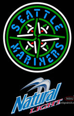 Natural Light Seattle Mariners MLB Neon Sign