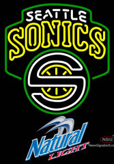 Natural Light Seattle Supersonics NBA Neon Sign