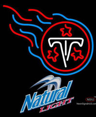 Natural Light Tennessee Titans NFL Neon Sign