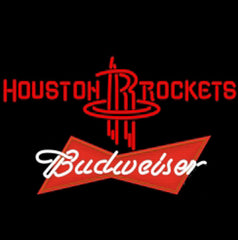 Nba Budweiser Logo Houston Rockets Nba Beer Neon Sign