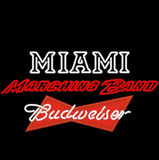 Nbl Budweiser Miami University Band Board Neon Beer Light